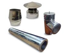 Комплект димоходу для твердопаливних котлів