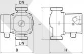 Циркуляционный насос Rudes RH 25-4-180 7225 - фото 4