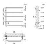Водяной полотенцесушитель Lidz Standard (CRM) D32/20х1/2