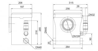 Канализационная установка Sprut WCLift 400/3F Compact 10568 - фото 4